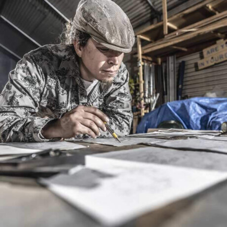 FreeStyleTrailerCo's Max - drafting and planning Airstream renovations - getting them right on paper before building them out.