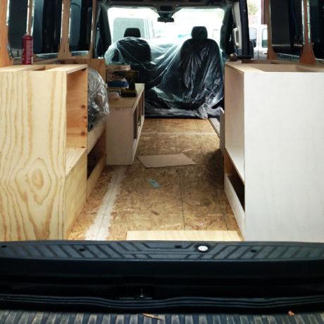 Van conversion strip-down