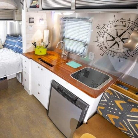 Beautiful Airstream interior - ready for play