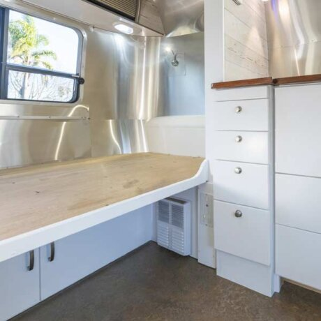 Custom cupboards and bunk, ready to travel