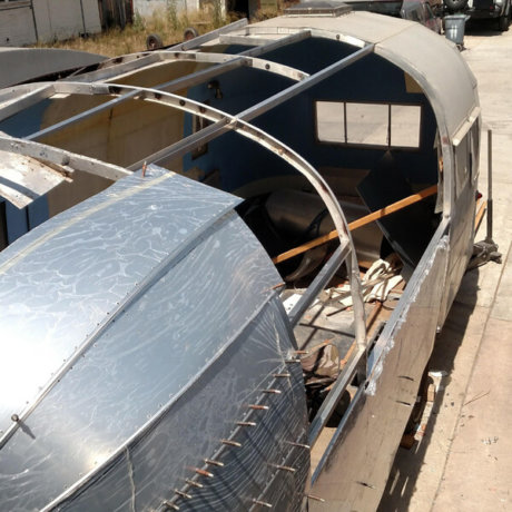 Saving what we can and working with the rest to create a seamless Airstream exterior