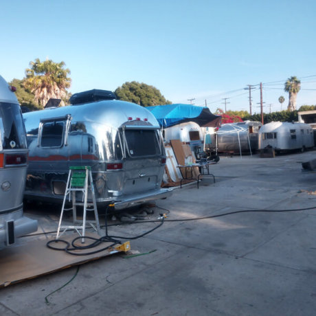 FreeStyleTrailerCo's work yard - a nice big area to spread out and get the work done.