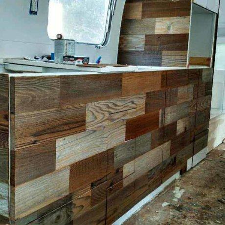 Adding barnwood for an amazing retro homey feel